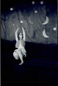 "ELOISE HARRIS hangs in, I believe, Holland in an ""Angels of Light"" show."