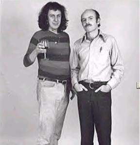 Me with playwright DAVID STARKWEATHER