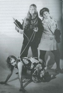 "JACQUE LYNN COLTON (right) in Andy's 1969 movie version of his 1977 play ""The Bitch."" Photo from Jimmy McDonough's bio of Andy, ""The Ghastly One."""