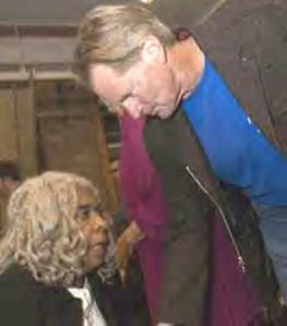 Two Scorpios: ELLEN STEWART and SAM SHEPARD at the 45th Anniversary of La Mama.