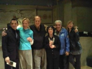 Actor Mel England, JOHN GILMAN, BOB HEIDE,MAGIE DOMINIC, BOB DAHDAH, MARI-CLAIRECHARBA at Judson Church's memorial service for H.M. KOUTOUKAS.