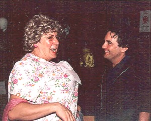 The only photo of me with the love of my life, actor Joe Pichette....and I'm in drag.