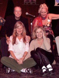 Left, TOM O'HORGAN and MARI-CLAIRE CHARBA; right, Sally Kirkland and Marilyn Roberts.Photo: c 2009 Clayton Patterson