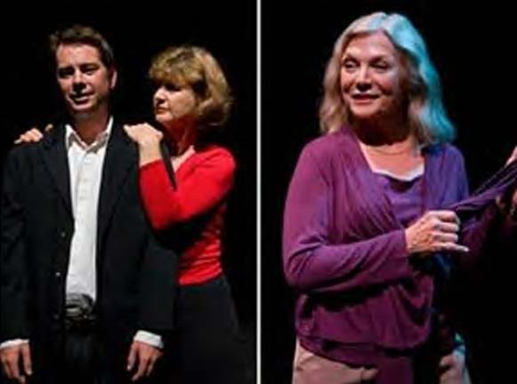 Santa Barbara 2007. MICHAEL SMITH's son Alfred with Laurel Lyle in Michael's play, Bad Dog, and Susan Keller in Michael's 1966 Cino play, More, More, I Want More, script >HERE.