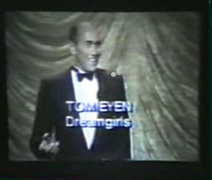 "1982--TOM EYEN accepts a Tony for ""Best Book of a Musical"" for ""Dreamgirls."""