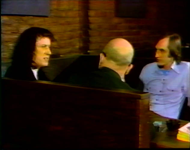 Me and Lanford being interviewed for PBS at Phebe's Bar in 1975 by producer Richard Barr.