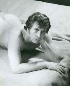 KEITH CARSEY, probably Off-Off's first nude, in MICHAEL LOCASCIO's A Corner of the Morning, La Mama's first original play, directed by ANDY MILLIGAN. Perhaps the only existing performance photo from La Mama's first home, the basement on E. 9th St.