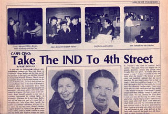 In 1979, a New York paper called Other Stages (editor LEAH D. FRANK) published the first important series of articles about the Cino by participants. Here's MARY BOYLAN's.