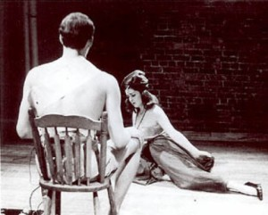 BbAaNnGg!! Benefit, 1965. STEVE DAVIS and CONNIE CLARK in DANIEL HABEN CLARK's Big Bad Lula's Dance of Desire. Photo JAMES D. GOSSAGE.