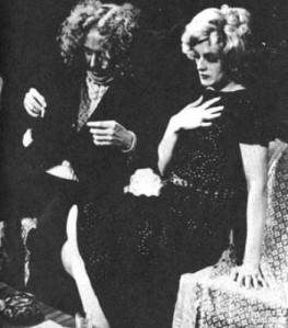 GOLDIES JOKE #1: Me and Candy Darling, old before our time, playing great-grandparents at The Old Reliable Theatre Tavern, 1970. Candy was so free with his improvisations that I took advantage of my entrance being through the bar to down two quick sciotches before my entrance, to fortify me against his flights of imagination.