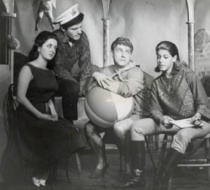 CONNIE CLARK, Paul Jenkins, NEIL FLANAGAN, LUCY SILVAY in DANIEL CLARK's An Interview, 1964.