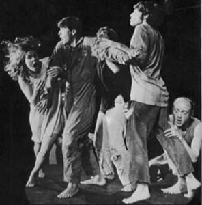 THE OPEN THEATRE in JEAN-CLAUDE VAN ITALLIE's The Serpent. I saw it at Joe Papp's Public Theatre in, I suppose, 1968 or 1969, but I don't know when or where this shot was taken. Visit Jean-Claude Van itallie's picture-rich website HERE!